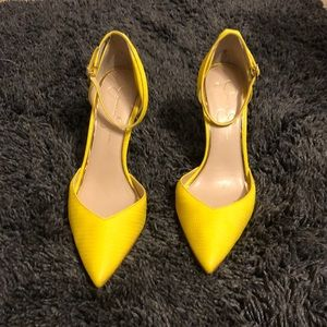 Lemon Yellow Pumps